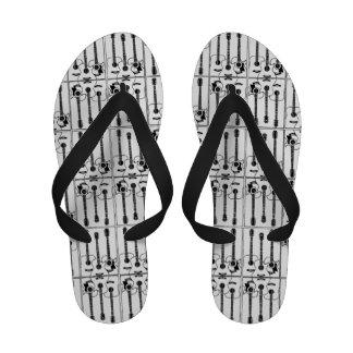 chaussures de guitares acoustiques de motif sandales