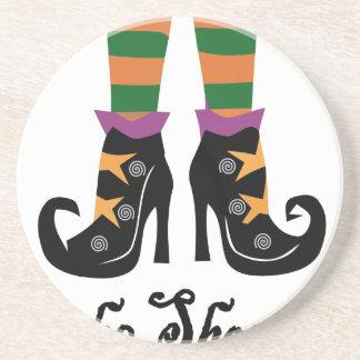 chaussures de sorcières dessous de verre en grès
