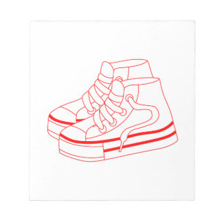 Chaussures de tennis blocs notes