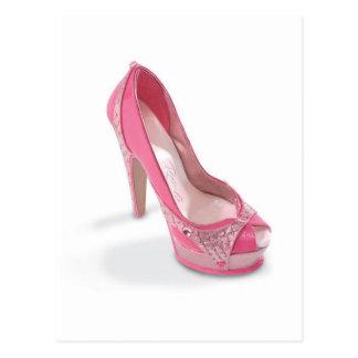 chaussures légalement roses cartes postales