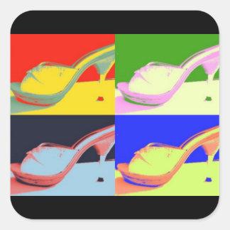 chaussures sexy sticker carré