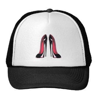Chaussures stylets noires casquette