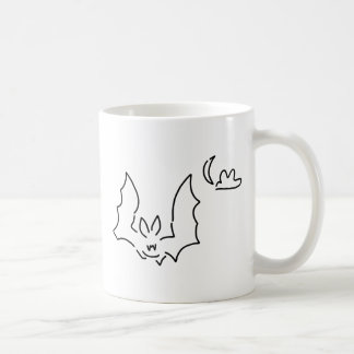 chauve-souris flughund la nuit lune mug