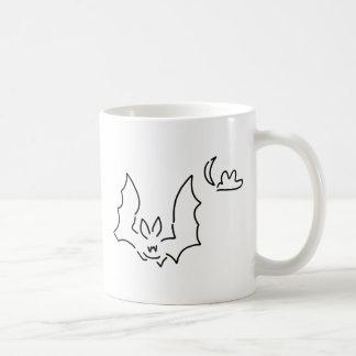 chauve-souris flughund la nuit lune mug blanc