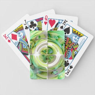 Chaux et collage abstrait de vert jeux de cartes