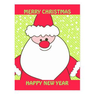 Chaux et Père Noël rouge Cartes Postales