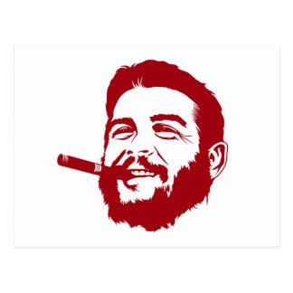 Che Guevara avec la carte postale de portrait de