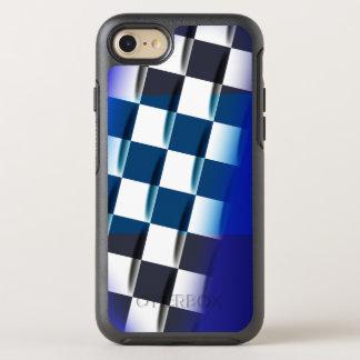 Checkered élégant sur l'arrière - plan bleu coque otterbox symmetry pour iPhone 7
