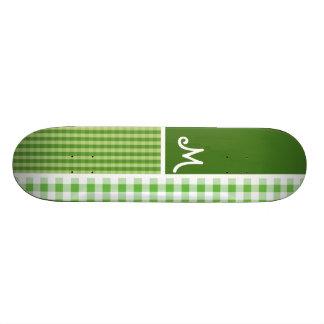 Checkered vert ; Guingan Skateboards Personnalisés