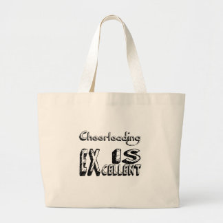 Cheerleading est excellent grand tote bag