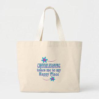 Cheerleading mon endroit heureux grand sac