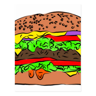 Cheeseburger Carte Postale