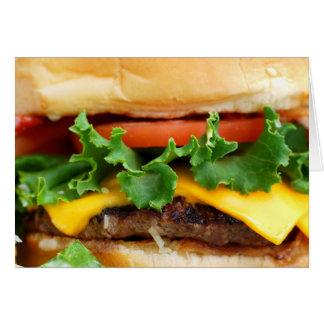 Cheeseburger de lard cartes de vœux