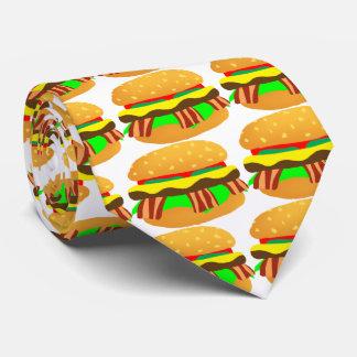 Cheeseburger de lard cravates