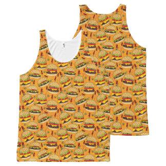 Cheeseburger de luxe débardeur tout-imprimé