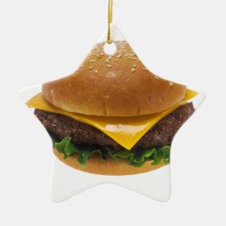 Cheeseburger Ornement Étoile En Céramique