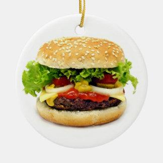 Cheeseburger Ornement Rond En Céramique