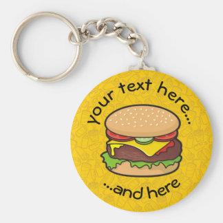 Cheeseburger Porte-clé Rond