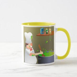 Chef au travail mug