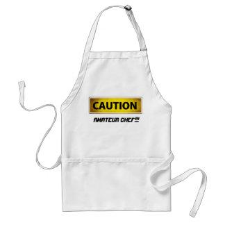 Chef d'amateur de précaution tablier