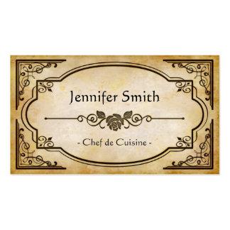 Chef de Cuisine - antiquité vintage élégante Carte De Visite Standard