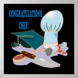 Chef de félicitations poster