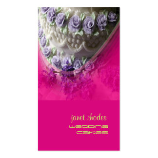 Chef de pâtisserie de gâteaux de mariage, rose carte de visite standard