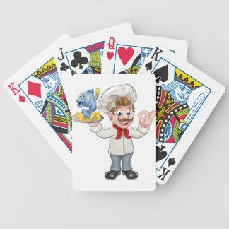 Chef de poisson-frites jeu de cartes
