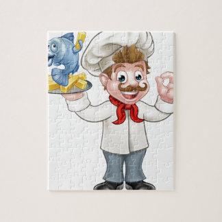 Chef de poisson-frites puzzle