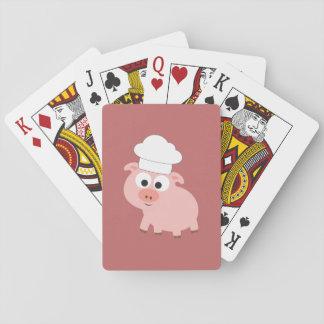 Chef de porc cartes à jouer