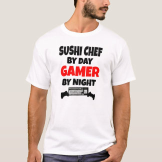 Chef de sushi de Gamer T-shirt