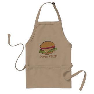 Chef d'hamburger tablier