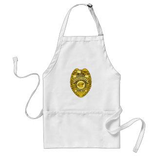Chef d'insigne de police de cuisine tablier
