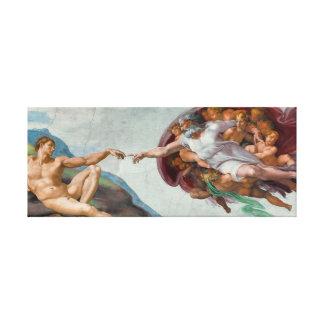 """Chef d'oeuvre sur la toile - """"la création d'Adam """""""