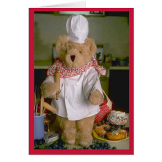 Chef d'ours de nounours carte de vœux