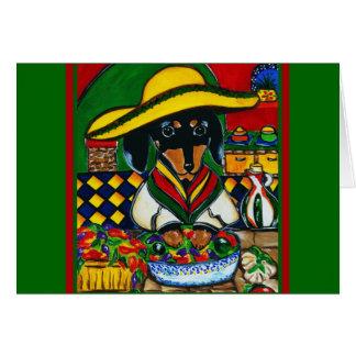 Chef Doxie du Mexique Carte De Vœux