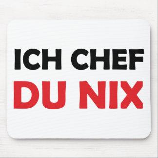 Chef du icône noire et rouge de nix d'Ich Tapis De Souris