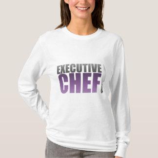 Chef exécutif pourpre t-shirt