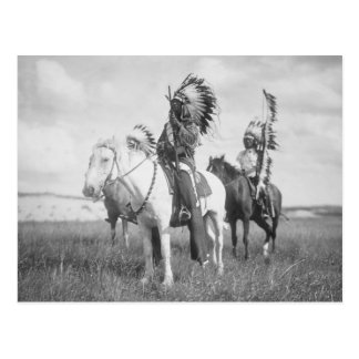 Chef indien à cheval, 1905 carte postale