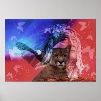 Chef indien indigène affiches