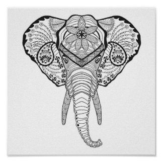 Chef inspiré 2 d'éléphant posters
