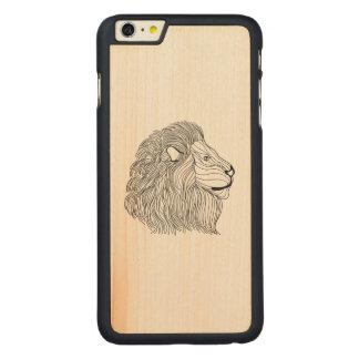 Chef inspiré 5 de lion coque carved® en érable pour iPhone 6 plus case