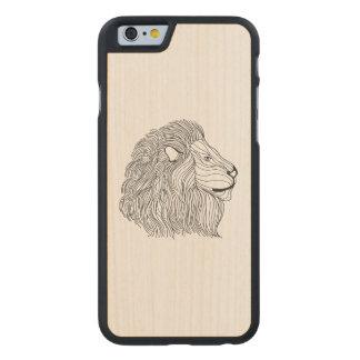 Chef inspiré 5 de lion coque carved® slim iPhone 6 en érable