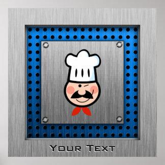 Chef ; Métal-regard balayé Affiches