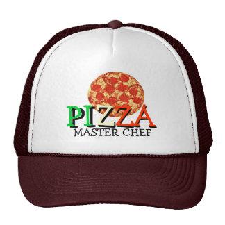 Chef principal de pizza casquettes de camionneur