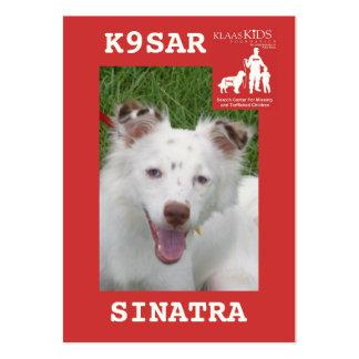 chef-SINATRA, équipe K9 de recherche de KlassKids Carte De Visite Grand Format