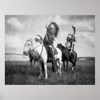 Chefs de Sioux 1905 Affiche