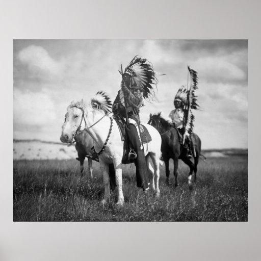 Chefs de Sioux : 1905 Affiche