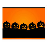 Chefs heureux de citrouille de Halloween Cartes Postales