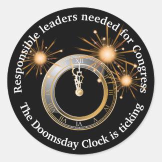 Chefs responsables pour l'horloge de jour du sticker rond